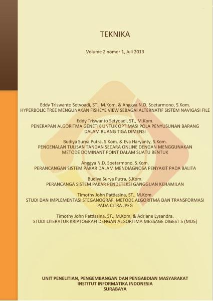 Teknika, Vol 2, No 1, Juli 2013