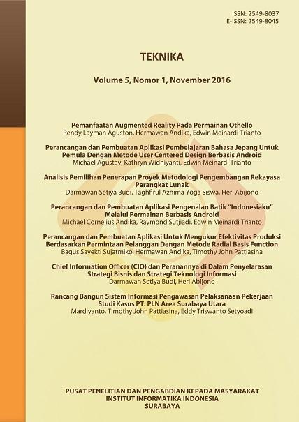 Teknika, Vol 5, No 1, November 2016