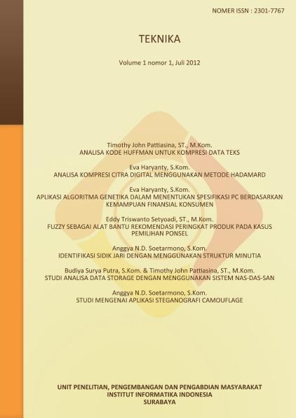Teknika, Vol 1, No 1, Juli 2012