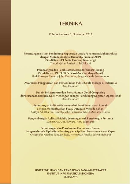 Teknika, Vol 4, No 1, November 2015