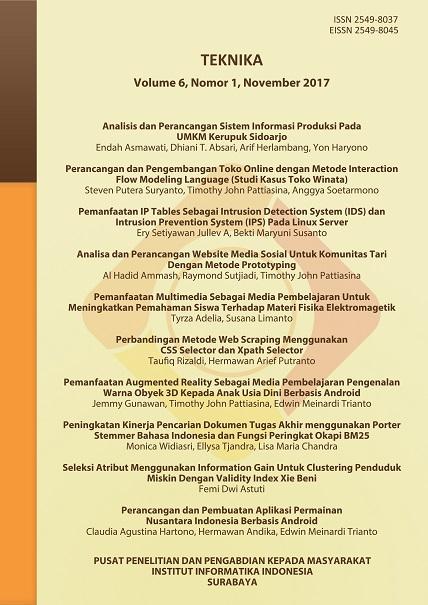 Teknika, Vol 6, No 1, November 2017